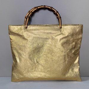 Vintage 60's Gold Lamé Handbag